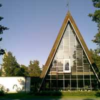 Hailuoto Church, built in 1972 in Finland