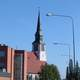 Kemijärvi Church and street in Finland