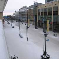 Pedestrian zone Manski in Kouvola downtown in Finland