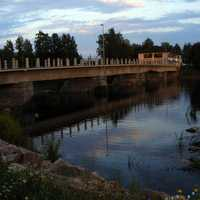 Savisilta Bridge spanning the river in Ylivieska, Finland