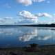 The lake landscape of Pirttijärvi in Puolanka, Finland