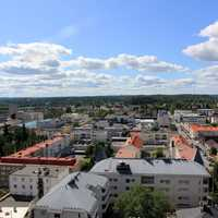 Town View under the sky in Mikkeli, Finland
