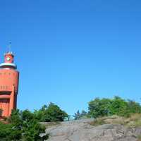 Water Tower and Church in Hanko, Finland