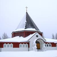 The church of the Holy Family of Nazareth Parish in Oulu in Finland