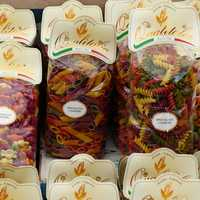 Bags of colorful Pasta