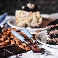 Cake and Nuts on the table