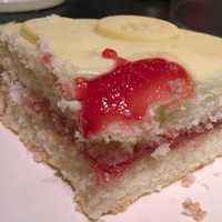 Cake with strawberry and sweets