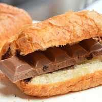 Chocolate Bar inside the Croissant