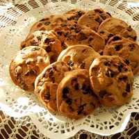 Chocolate Chip Cookies in a basket