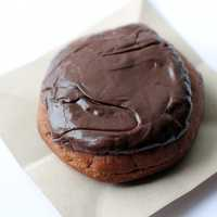 Chocolate Donut on plate