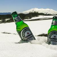Cold Beer in the Mountain Snow