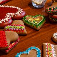 Colorful Heart Shaped Cookies