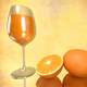 Glass of Wine, Egg, and Orange