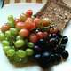 Grapes with bread