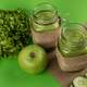 Green Apples and crushed apple juice