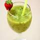 Green Fruit Smoothie with strawberry