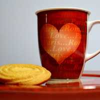 Heart Cup and Cookie