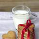 Heart Shaped cookies and milk