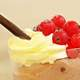 Ice cream treat with cherries and chocolate