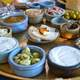 Many Dishes of Israeli Breakfast