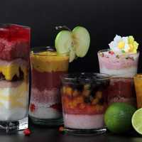Mix of fruit cocktail smoothies