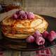 Pancakes with Raspberries breakfast