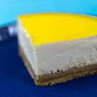 Piece of yellow cheesecake