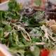 Salad with lettuce and dressing