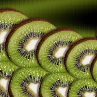 Several Slices of Fresh Kiwi