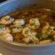 Shrimp Soup with seasoning Dish