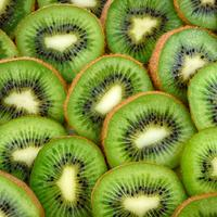 Sliced and open Kiwi fruit