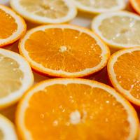 Sliced Orange halfs