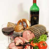 Smoked Ham and Wine