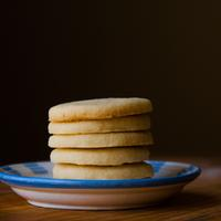 Stack of cookies on the plate