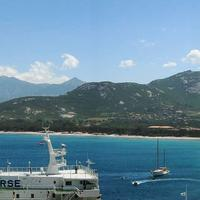 Panorama of the Bay of Calvi in Corsica, France