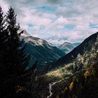 Landscapes View of the French Alps near Mont Blanc