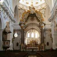 Nave of Church of Saint-Bruno des Chartreux