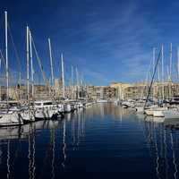 Boats in the Harbor in Marseille