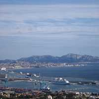 Landscape of the Port of Marseille, France