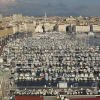 Overlooking the Port of Marseille, France