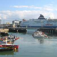 A Ferry in the port of Le Havre
