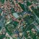 Aerial view of the Houses in  Les Vans, France