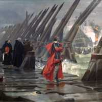 Cardinal Richelieu at the Siege of La Rochelle, France in 1881