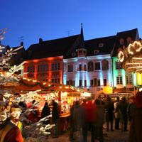 Christmas market in Mulhouse in France