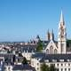 Downtown Caen and the Abbey of St. Étienne in France