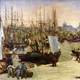 Harbour at Bordeaux Painting in 1871 in France