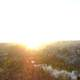 Panoramic view of Poitiers at sunset in France