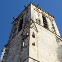 Remains of iconoclasm, Eglise Saint-Sauveur, La Rochelle in France