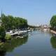 The River Somme from the Boulevard de Beauvillé in Amiens, France