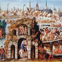 Royal entry of Henry II in Rouen, France